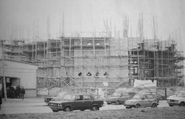Budowa kościoła, 1989r.